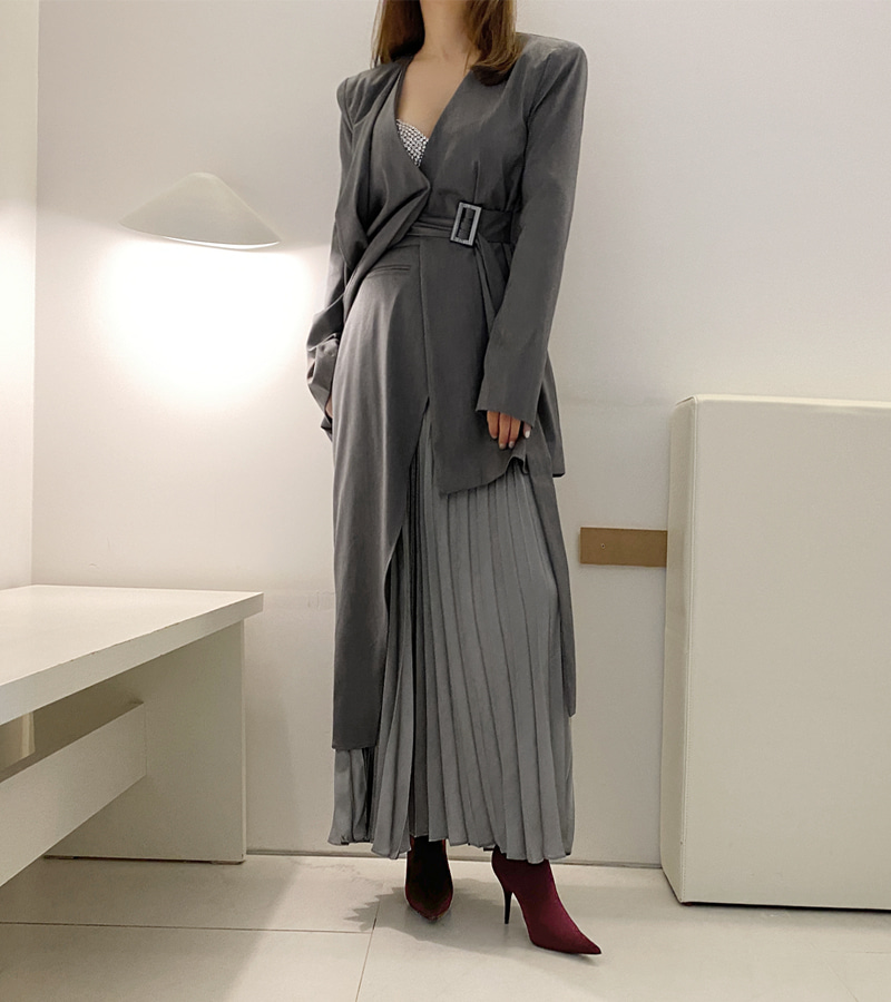 walkingcoco-Gray Kelly Skirt♡韓國女裝裙