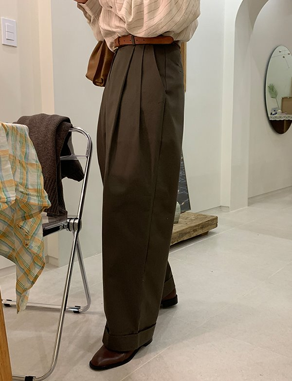 browncode-tiva pants♡韓國女裝褲