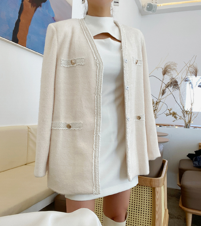 walkingcoco-Top Knit Jacket (ivory)♡韓國女裝外套