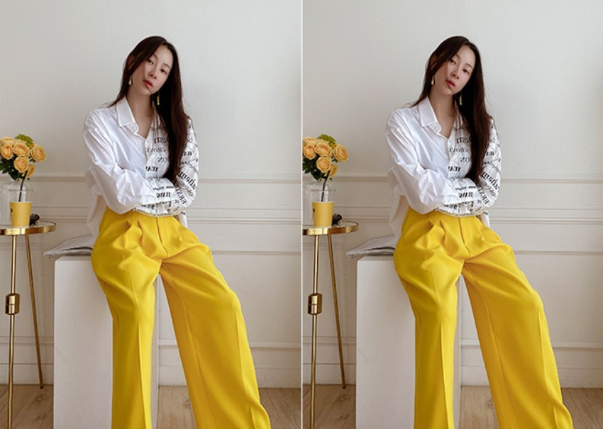 myclassy-Vivid tailored pants♡韓國女裝褲