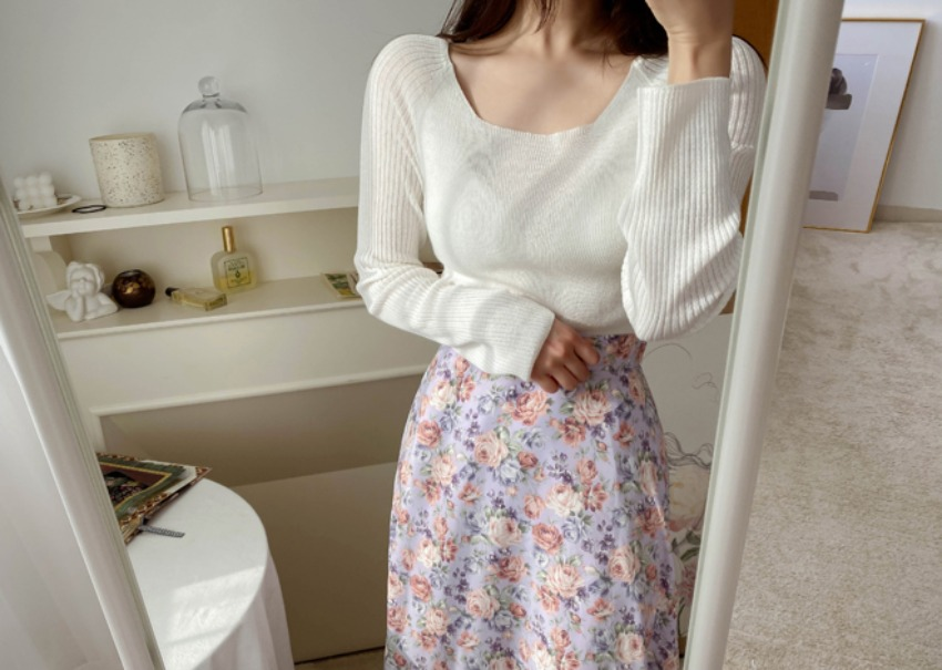 myclassy-Laura Square Knit♡韓國女裝上衣