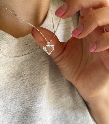 withyoon-(92.5 silver) heart necklace 007♡韓國女裝飾品