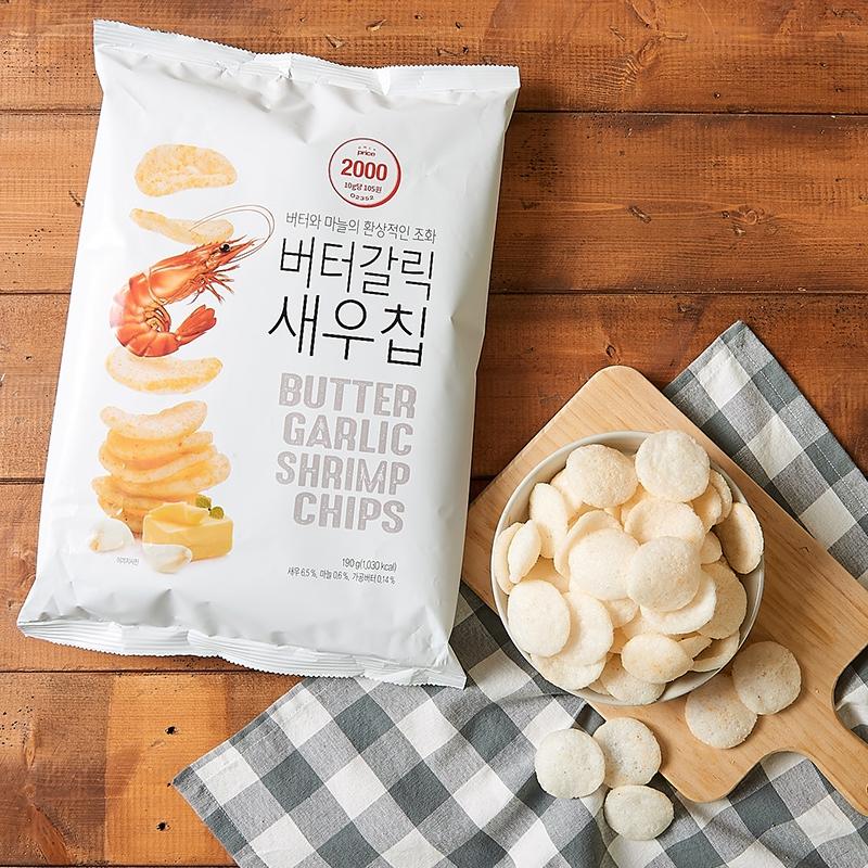 韓國 Only Price 牛油蒜香味巨大裝蝦片 190g