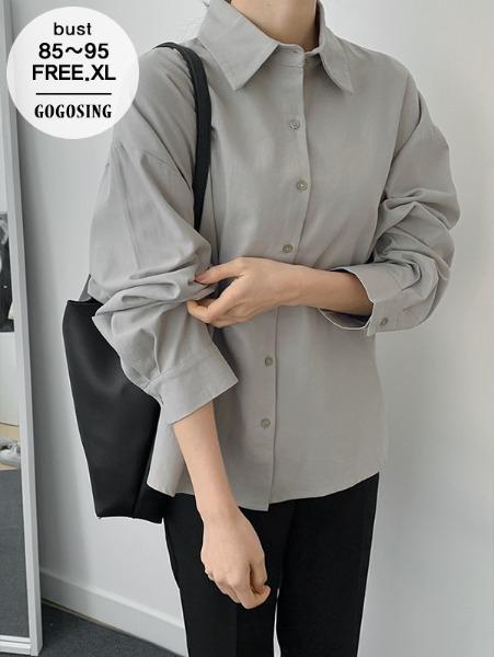 ggsing-[주말동안9%할인]코지코튼셔츠 (루즈핏,가둘레,무료배송)♡韓國女裝上衣