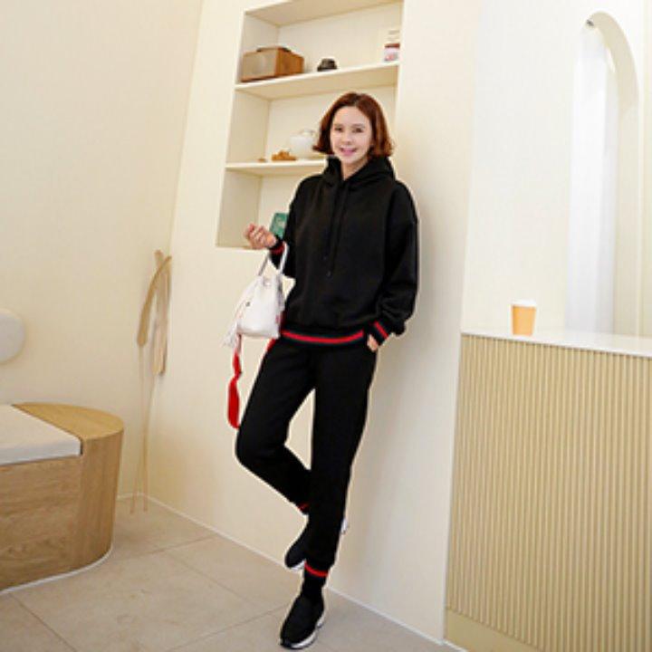 lemite-레드라인 트레이닝세트(25일까지15%프리오더!기모안감)♡韓國女裝套裝