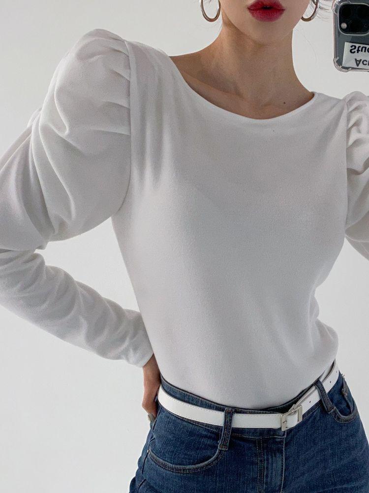 ppgirl-퍼프 봄 긴팔티t G632♡韓國女裝上衣