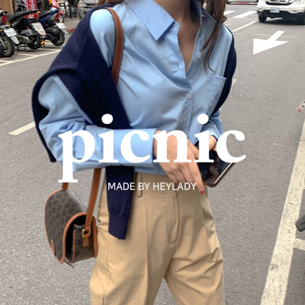 heylady-[Picnic]러스티 코튼셔츠♡韓國女裝上衣