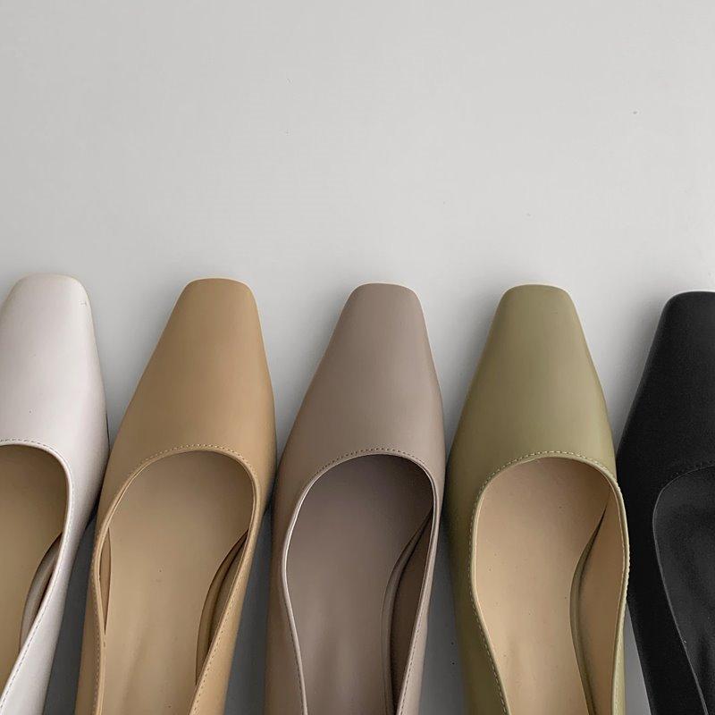 laurenhi-쉘브 스퀘어 미들힐 - 5 color  ♡韓國女裝鞋