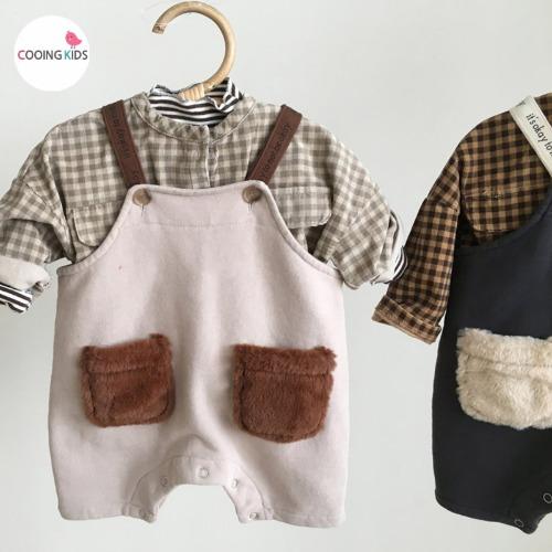 cooingkids-베이비옷 - H오케이오버롤팬츠♡韓國幼兒裝