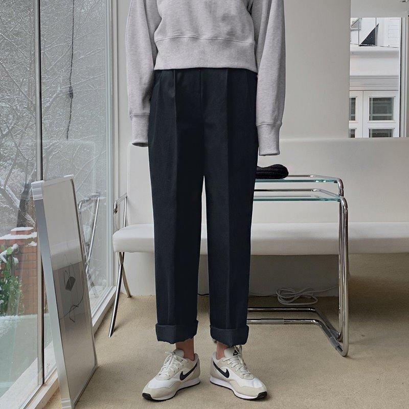 laurenhi-소란 핀턱 와이드 코튼팬츠 - 3 color  ♡韓國女裝褲
