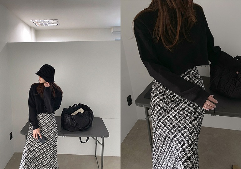 prostj-보일드 크롭 맨투맨 (3colors)♡韓國女裝上衣