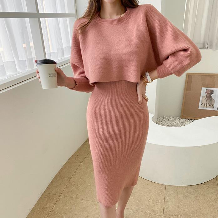 dabagirl-라울앙고라원피스세트♡韓國女裝套裝