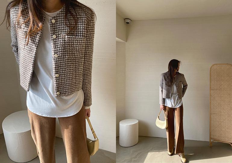 prostj-니치 트위드 자켓 (2colors)♡韓國女裝外套