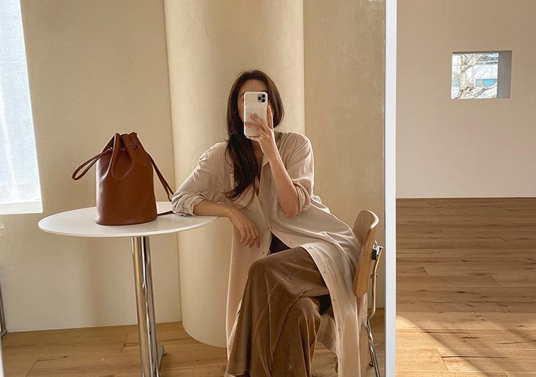 prostj-포퓰러 셔츠 원피스 (2colors)♡韓國女裝連身裙