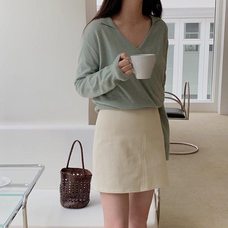 laurenhi-캐론 A라인 미니 스커트 - 4 color  ♡韓國女裝裙