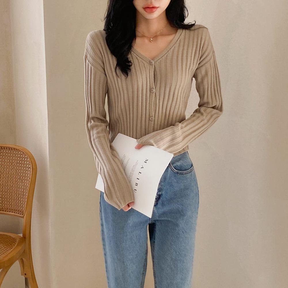 ppgirl-모카 골지 가디건cd G650♡韓國女裝外套
