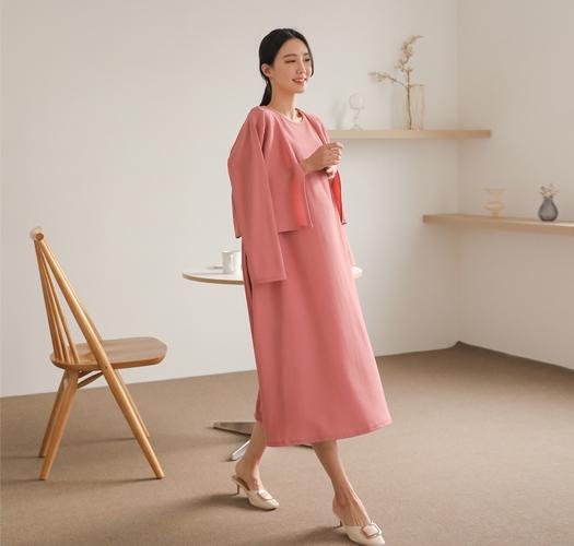 soim-[임부복*구김없는가디건세트 임산부원피스]♡韓國孕婦裝連身裙