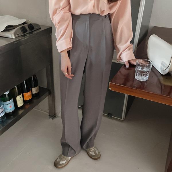 heylady-비마크 와이드 슬랙스♡韓國女裝褲