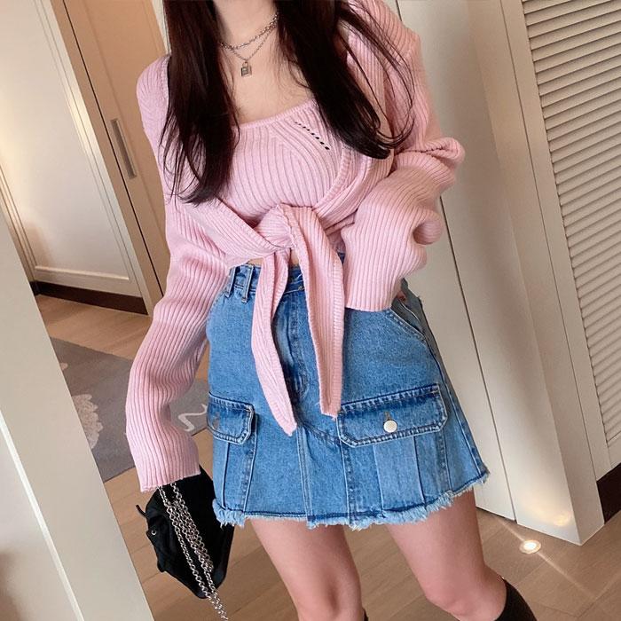 hypnotic-골지꼬잉가디건 세트♡韓國女裝上衣