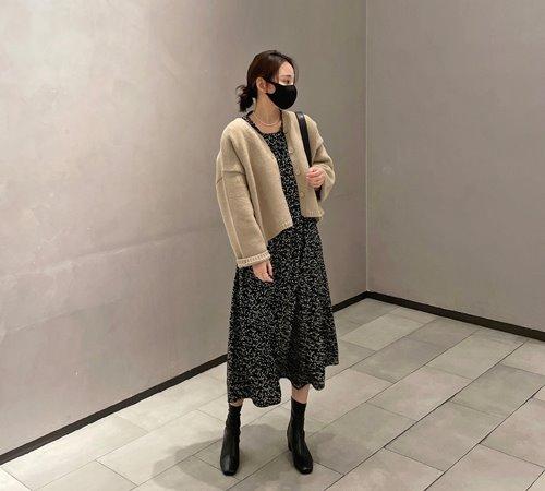theozzang-포슬린 플라워롱원피스♡韓國女裝連身裙