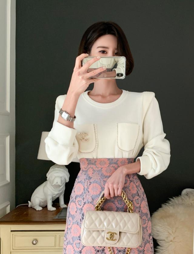 babirolen-[포켓펄-t]♡韓國女裝上衣