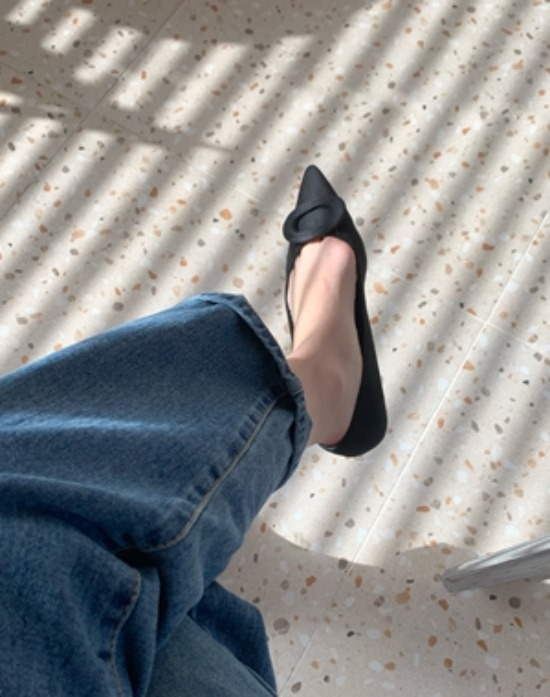 swanee-[추천] 페미닌 스틸레토 플랫 SH (2color)♡韓國女裝鞋