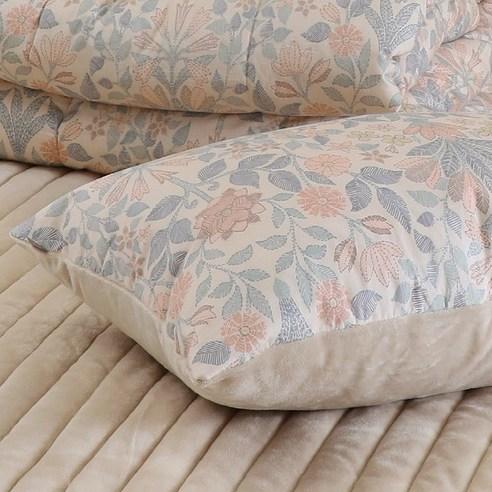 100%韓國製防塵蟎純棉花紋枕頭袋(1個)