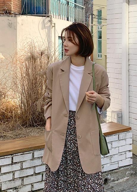 loloten-쿠디 루즈핏 투버튼 자켓♡韓國女裝外套