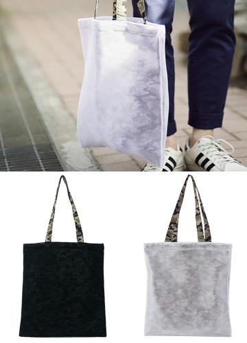 jogunshop-[매쉬&카모 에코백]♡韓國男裝袋