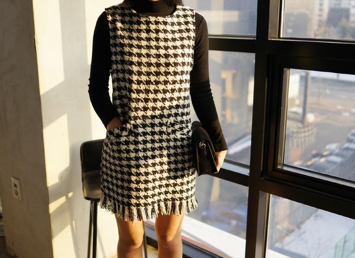 anndaly-파격세일 (SALE 35500 ->12500)하운드 울나시원피스♡韓國女裝連身裙