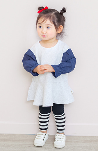 kkakkungnoriter-[by.까꿍] 셔츠소매원피스♡韓國童裝套裝