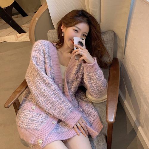 zanne-로맨틱 트위드 니트 투피스 - 잔느♡韓國女裝套裝