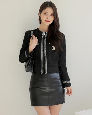 cocostory-[프렌치 집업 트위드-명품핏 트위드^^ 아름다운 라인감~!!]♡韓國女裝外套