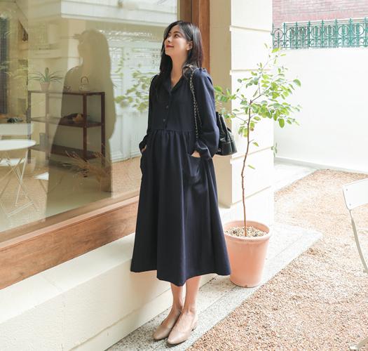 soim-[임부복*나무빛포켓 임산부원피스(수유가능)]♡韓國孕婦裝連身裙