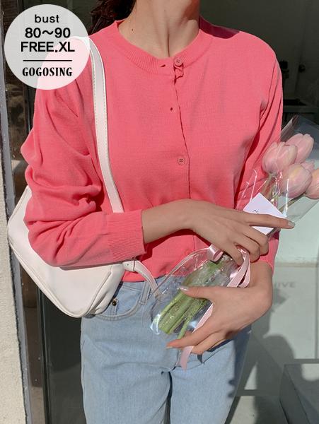 ggsing-[16일까지10%할인]샌드 데일리 라운드가디건 (12게이지1합,가둘레,무료배송)♡韓國女裝外套