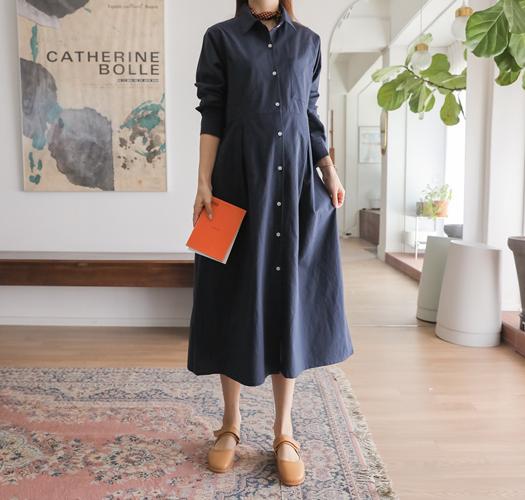 soim-[임부복*맞주름셔츠 임산부원피스(수유가능)]♡韓國孕婦裝連身裙