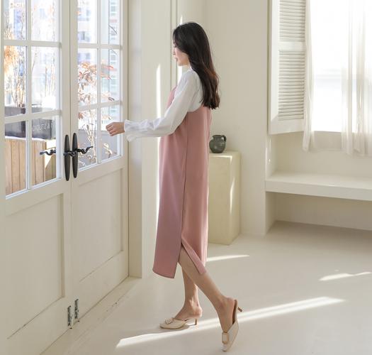 soim-[임부복*오피스롱뷔스티에 임산부원피스]♡韓國孕婦裝連身裙