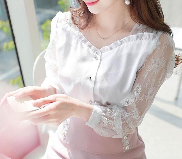 myfiona-남겨둔마음 블라우스 a0173 - 러블리 로맨틱룩 1위 쇼핑몰 피오나♡韓國女裝上衣