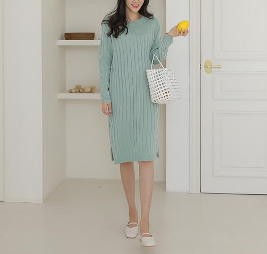 soim-[임부복*여리핏심플니트 임산부원피스]♡韓國孕婦裝連身裙