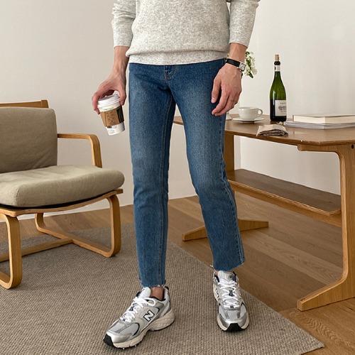 modernsweet-103 슬림 컷팅 데님 팬츠 (S~XL) / 강력추천 - 모던스윗(modernsweet)♡韓國男裝褲子