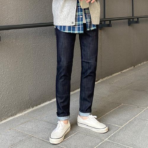 modernsweet-H9 스티치 생지 데님 팬츠(S~XL) - 모던스윗(modernsweet)♡韓國男裝褲子