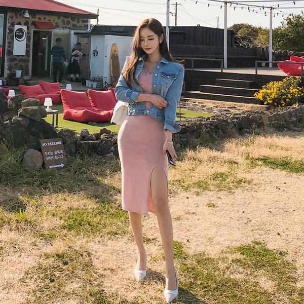 babinpumkin-봄이와 데님자켓♡韓國女裝外套
