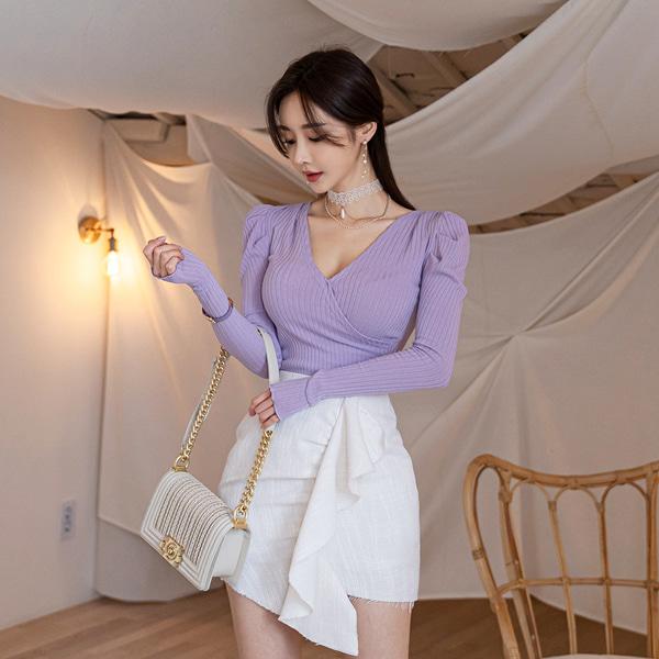 babinpumkin-쟈스민루쥬 랩 티셔츠♡韓國女裝上衣