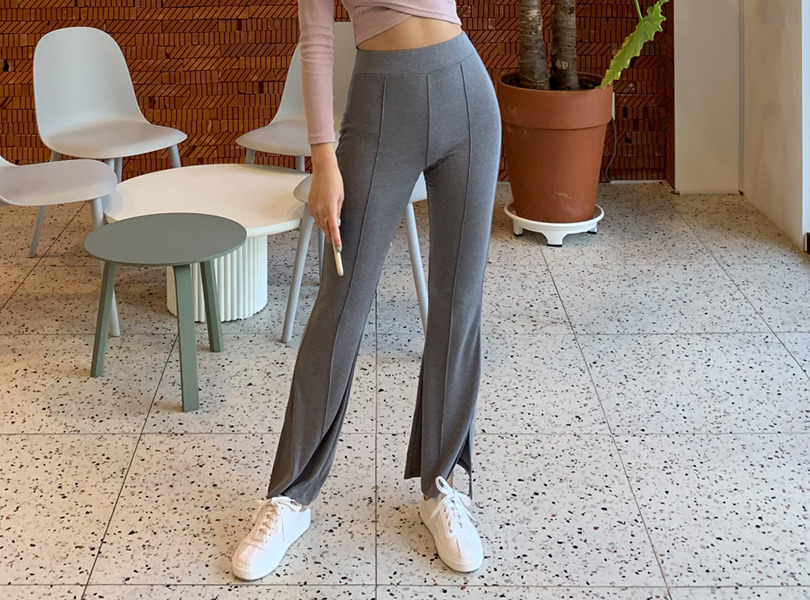 uuzone-라인부츠컷팬츠♡韓國女裝褲