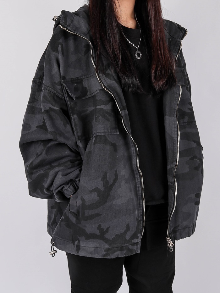 justyoung-PM 40 Military Hood Jacket (2color)♡韓國男裝外套