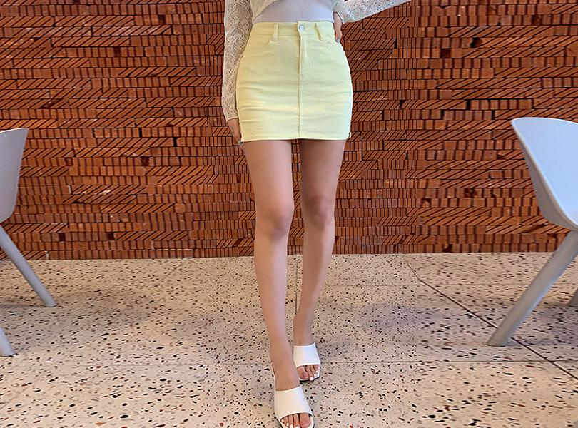uuzone-텐션코튼스커트♡韓國女裝裙