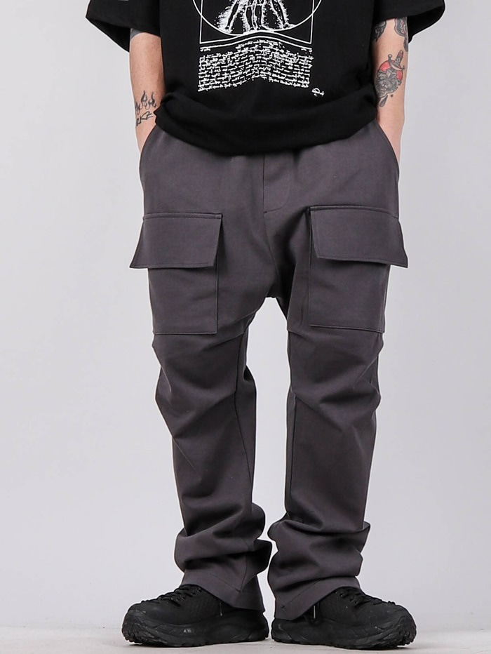 justyoung-DV Front Pocket Cargo Pants (2color)♡韓國男裝褲子