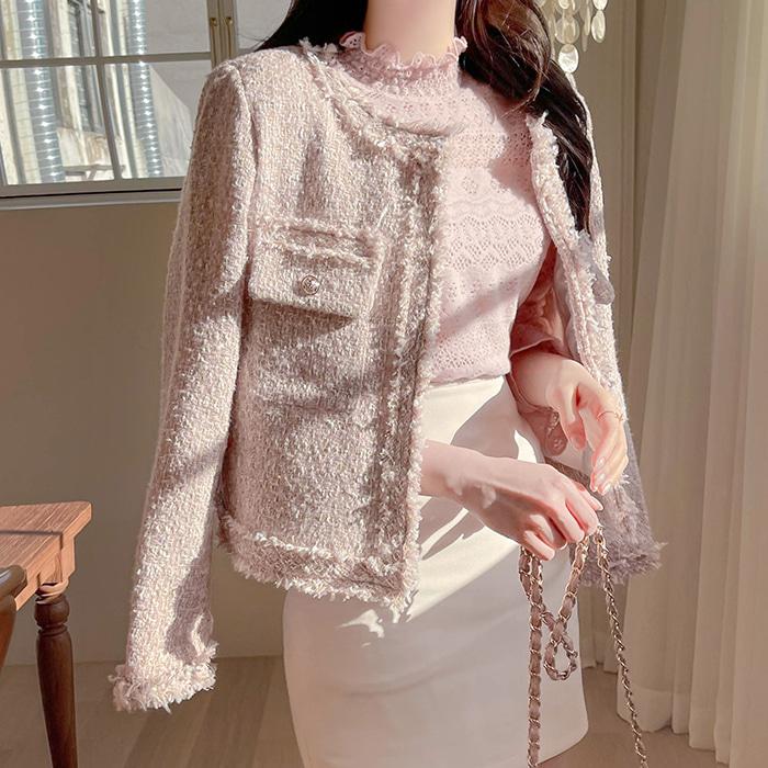 myfiona-우아한샤네린 파스텔 트위드자켓 a1210 - 러블리 로맨틱룩 1위 쇼핑몰 피오나♡韓國女裝外套