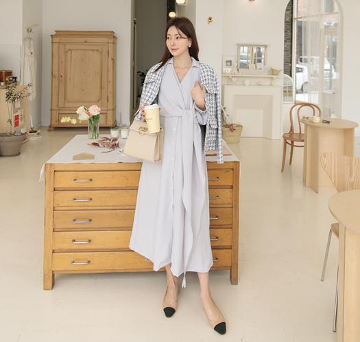 soim-[임부복*랩스카프실키 임산부원피스(수유가능)]♡韓國孕婦裝連身裙