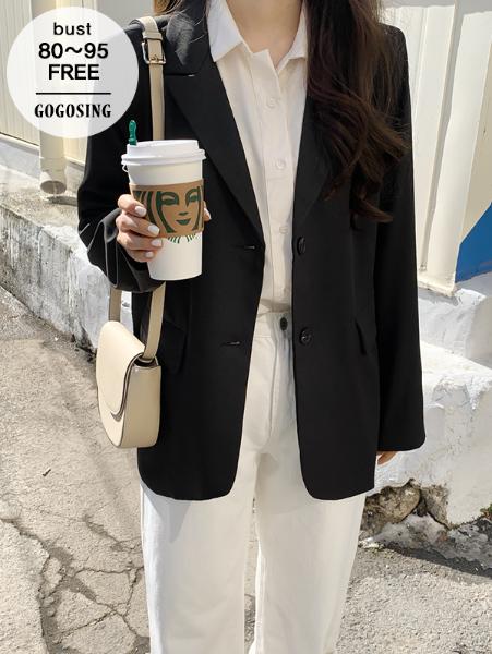 ggsing-[주말동안9%할인]스탠다드 심플JK (싱글,베이직,무료배송)♡韓國女裝外套